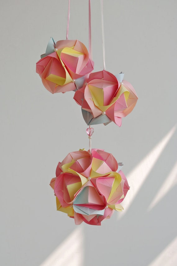 """SALE: Wedding decorations - Mobile """"Candy balls"""" - Home decor - Bedroom mobile - Eco - Paper mobile - Shabby chic"""