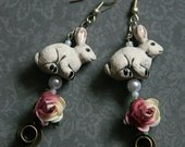 Alice In Wonderland inspired earrings.
