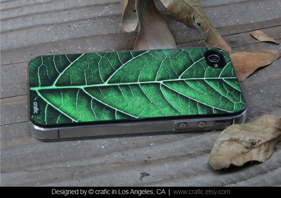 Green Leaf iPhone 4 Case, GREEN Nature iPhone 4S Case, Green Leaf iPhone 5 Case, Tree Leaf iPhone 5S Case, Spring Nature iPhone 5C Case
