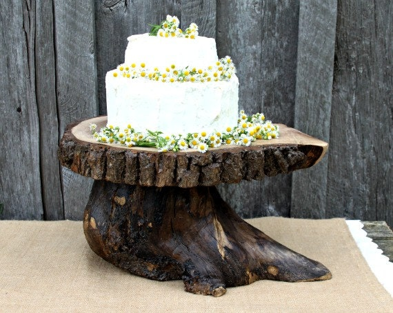 tree slice wedding cake stand items similar to 16 quot tree slice wedding cake stand great 21253