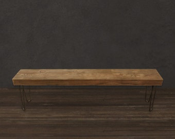 4' Solid Reclaimed Wood Beam Bench
