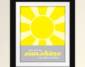 You Are My Sunshine - Set of 2 8x10 Prints
