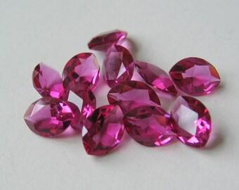 36 Vintage Fuchsia Pink Swarovski Navette Marquis Crystals 7x5mm