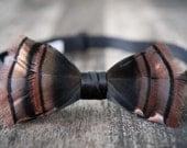Turkey Feather Bow Tie - Start A Conversation - BensBowtieOriginals