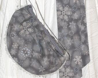 Snowflake Dancers Waist Purse & Tie Set