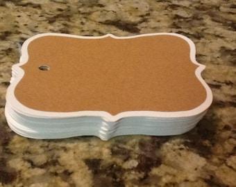 Kraft Layered Gift Tags (set of 12)