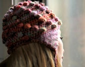 Milti-colored Pilot Hat / Hand Knitted Ear flap Hat for Women Teens Kids / Europeanstreetteam