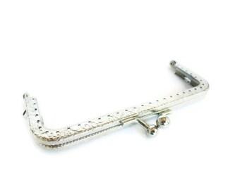 12cm ( 4,72 in) fancy purse frame silver F12/118