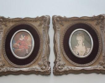 Two Cameo Creation framed miniature Portraits