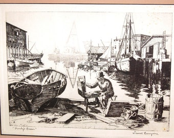 Lionel Barrymore's Purdy's Basin etching.  Beautifully done, signed on plate and offered at wholesale.
