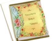 vintage Favorite Bible Verses Bit-O-Bible Gems card