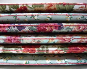 Commonplace book/A5 fabric covered cuttings/scrap/notebook