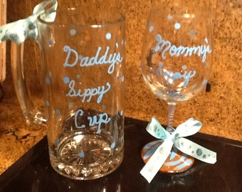 Daddy's  cup and Mommy's 12 oz matching sippy cup.