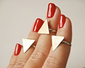 LAST ONE - Gold Triangle above knuckle ring