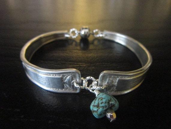 Handmade silverware bracelet