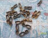 6 Vintage Brass Double Setting Drop    ....   B - 2
