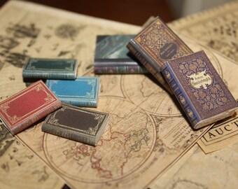 Dollhouse Miniature set of classic books ...set n. 3