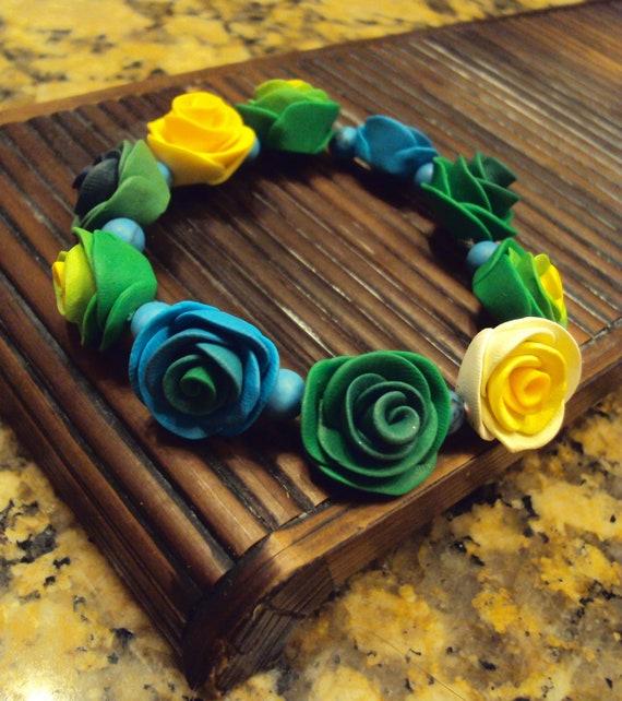 Cool Lagoon Rose Bracelet