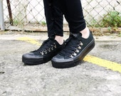Hollywood Heartbreaker-Custom Converse Chuck Taylor Sneaker Flatforms