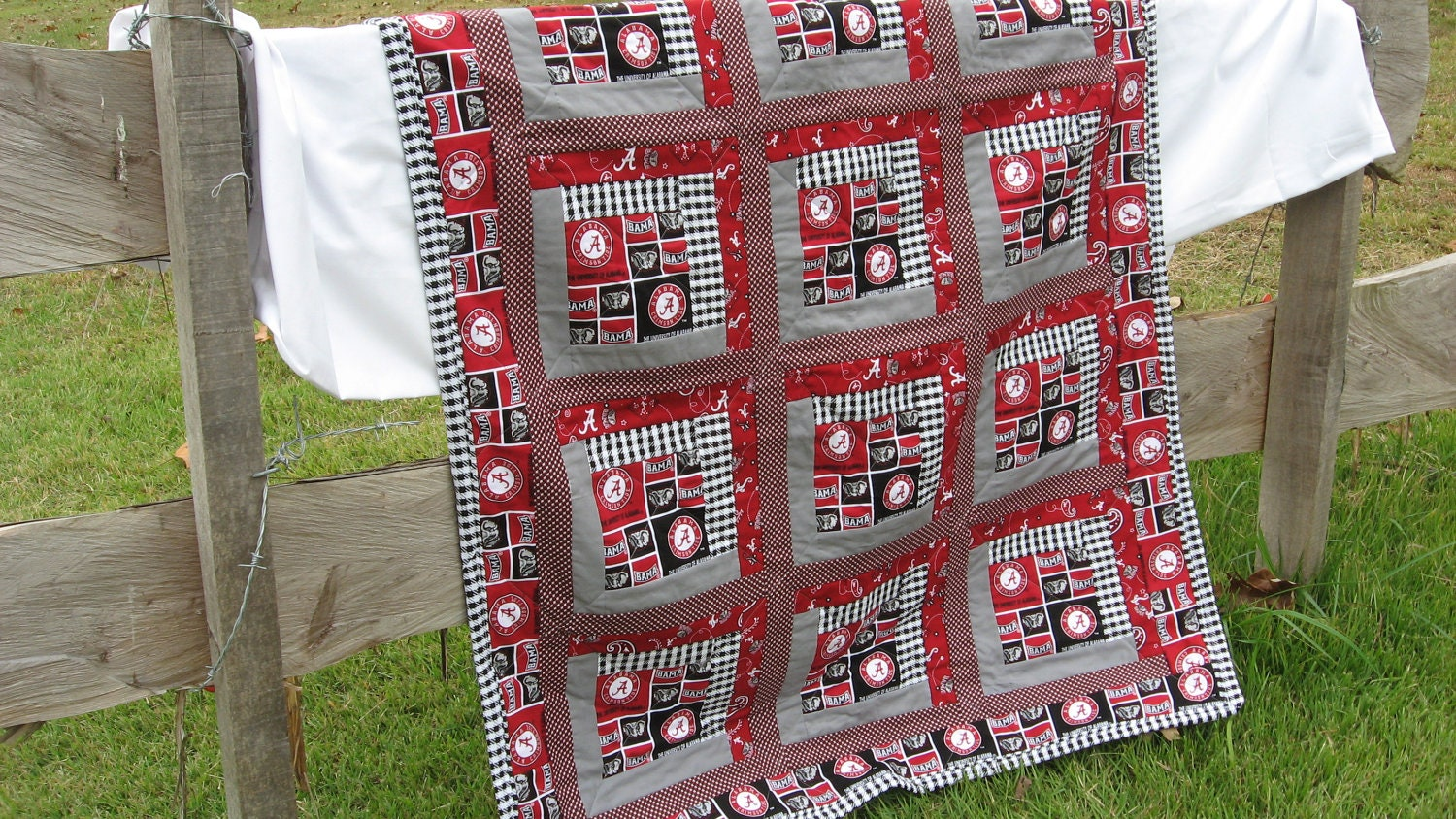 Baby Quilt In University Of Alabama Roll Tide