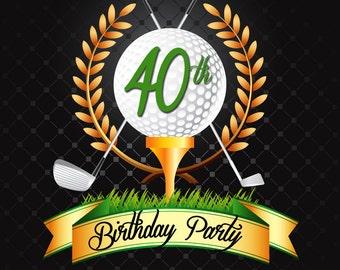 Golf Invitation Printable File DIY - Golf Birthday Invitation DIY - Hole in One Invite -  Golf Retirement Party