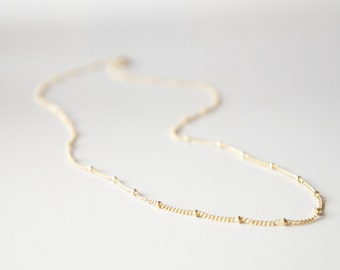 "14k Gold Filled Satellite chain necklace- 19"" long- modern minimalist jewelry for everyday by noa noa"