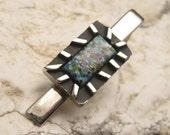 Vintage Tie Bar Blue H269