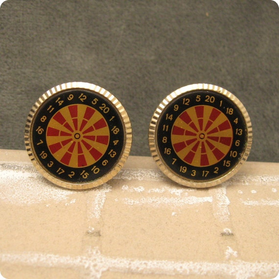 vintage cufflnks roulette wheel gambling h332. Black Bedroom Furniture Sets. Home Design Ideas