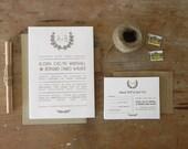 Kansas DIY Printable Wedding Suite - 4 pieces