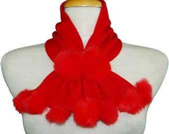 Romantic, Adorable and Stylish Handmade soft  Neck Cape and Scarf. One Size.