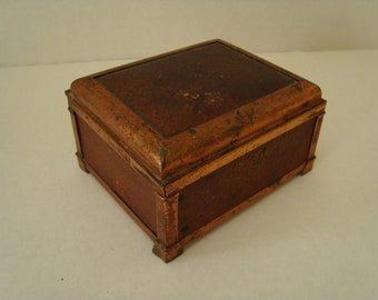 Vintage Leather and Copper Box