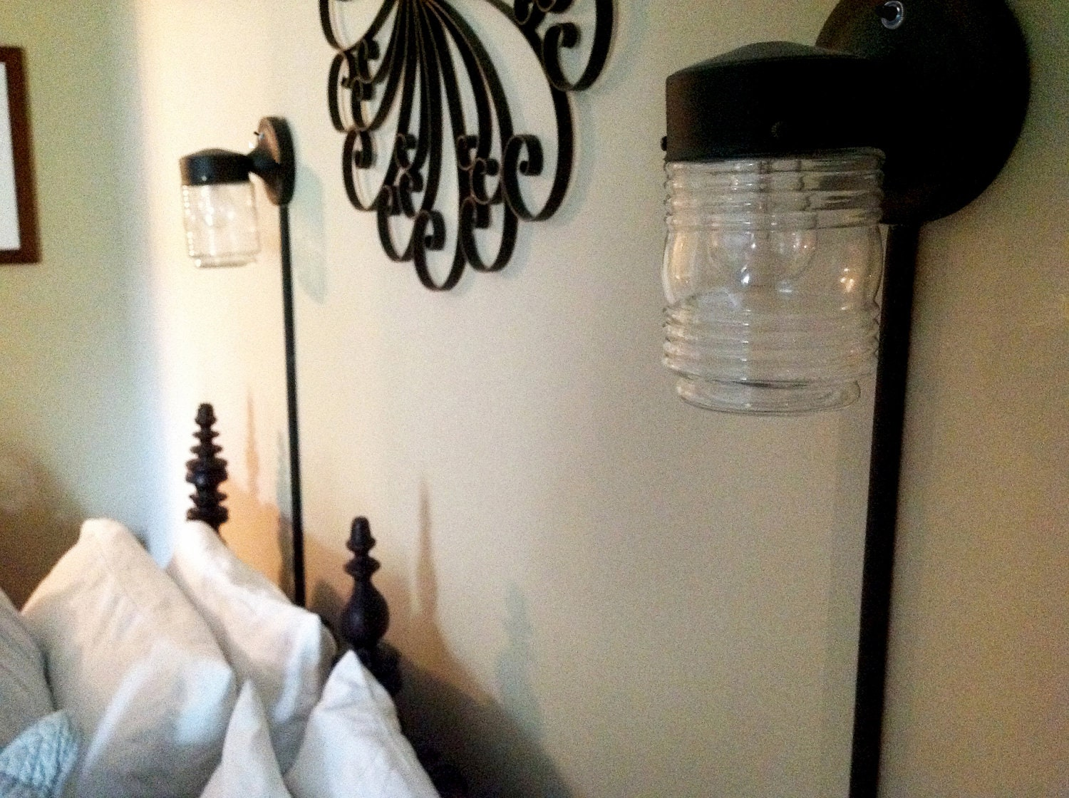 Plug in wall sconce with glass jar zoom amipublicfo Gallery