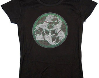 Ladies t-shirt / Celtic Knot & Horses
