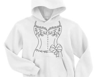 Adult Hoodie / White Wedding Dress design