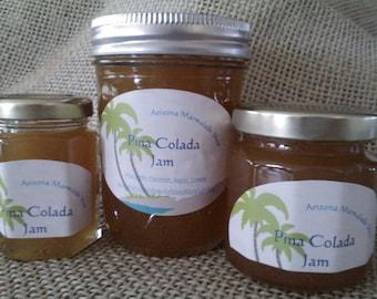 Pina Colada Jam/ Beach Wedding Favor/ TROPICAL Jam / 8 oz /Treasury Item