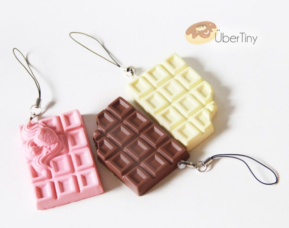 Chocolate Squishy Necklace- Crack and Snap