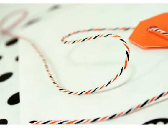 Halloween Divine Twine- 240 yards (Orange and Black)