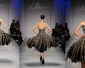 Phesant feather ballerina dress by Irina Shabayeva