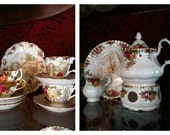 Royal Albert Old Country Roses .. Teapot & Warmer ... Never used ... pristine / price just lowered