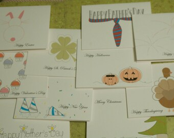 Holidays Collection card set of 8