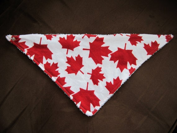 Canada Maple Leaf Bandana Bib