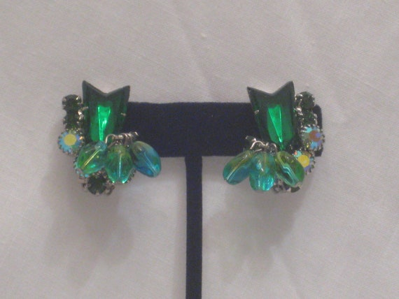 Vintage Juliana Style Rhinestone Earrings