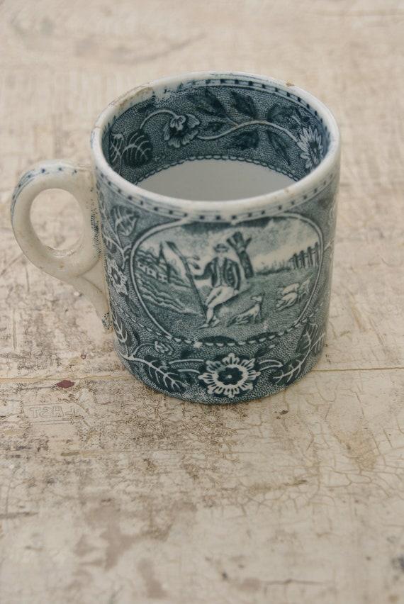 Royal Bonn Blue Transfer Mug Theetrinker Germany Made 1888