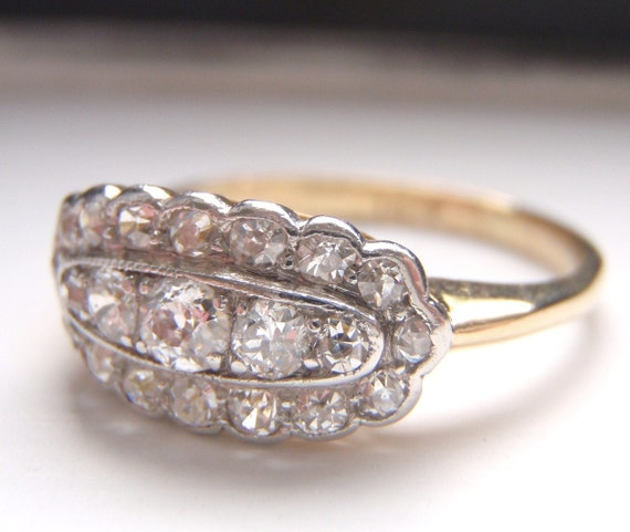 RESERVED for BOB - Congratulations 21 Old European Diamonds loaded with Sparkle. Quality 18K Gold. Divine.