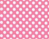 SALE Michael Miller Candy Pink Ta Dot Fabric 1 yd Cut