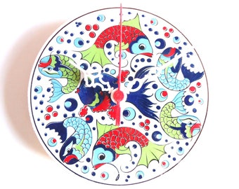 Wall Clock, Wall Clocks with Fish Pattern