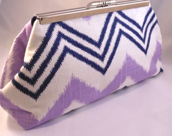 Navajo Lavender and Navy Clutch