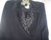 Reservd for Patricia-womens vintage Fatteneh Bahari black coat style dress