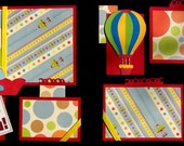 Over the Moon premade 12x12 scrapbook pages layout