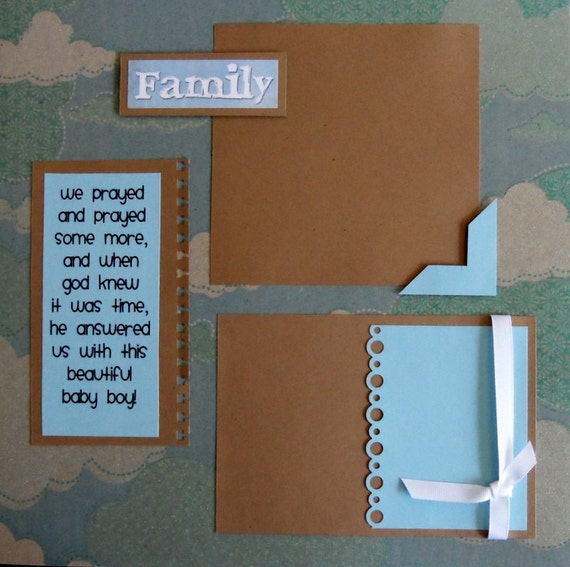 Items Similar To Premade 12x12 Scrapbook Pages Newborn